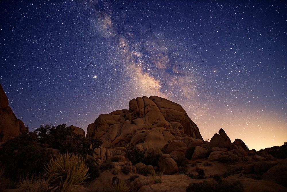 Milky Way Night Sky at Joshua Tree National Park. ©justinalexanderbartels.com