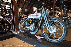 1935 Harley-Davidson VL Racer built by Terry Heyot at Speed Machine on Saturday in the Handbuilt Motorcycle Show. Austin, TX, USA. April 9, 2016.  Photography ©2016 Michael Lichter.