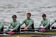 Hammersmith, GREATER LONDON. United Kingdom Cambridge University  Boat  Club, Pre Boat Race Fixture CUBC vs ITA M8+ for the 2017 Boat Race The Championship Course, Putney to Mortlake on the River Thames.<br /> <br /> Saturday  18/03/2017<br /> <br /> [Mandatory Credit; Peter SPURRIER/Intersport Images]<br /> CUBC<br /> <br /> [L-R] Timothy Tracey, 3. James Letten, 2. Freddie Davidson