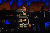 Stevie Wonder performs at the Global Citizen's Festival in New York's Central Park. <br /> <br /> The free, ticketed event is part of the Global Citizen platform, a social media and live-event campaign. Musicians and celebrities join dignitaries and philanthropists to urge world leaders to act towards ending extreme poverty by 2030. Free tickets were earned by fans who logged on to www.globalfestival.com to learn and share content about four main themes: education, women's equality, global health and global partnerships.<br /> <br /> (Photo by Robert Caplin) 2013 Global Citizen's Festival. <br /> <br /> Photo ©Robert Caplin