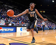 Missouri guard Tiffany Brooks (34) tries to save the ball from going out of bounds during the second half against Kansas State at Bramlage Coliseum in Manhattan, Kansas, January 13, 2007.  K-State beat the Tigers 81-66.