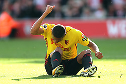9 September 2017 - Premier League Football -Southampton v Watford - A dejected Richarlison of Watford pounds the ground with his fist after missing a chance - Photo: Charlotte Wilson
