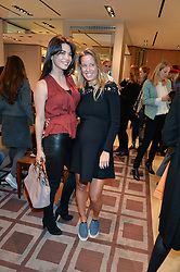 Left to right, LOHRALEE ASTOR and CAROLINA BONFIGLIO at a Valentine's Ladies breakfast hosted by Tod's and Carolina Bonfiglio at the Tod's boutique in New Bond Street, London on 10th February 2015.