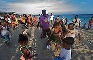 Usain Bolt on Hellshire Beach, Kingston, Jamaica 2010