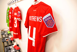 Bristol City Women changing rooms prior to kick-off - Mandatory by-line: Nizaam Jones/JMP - 27/10/2019 - FOOTBALL - Stoke Gifford Stadium - Bristol, England - Bristol City Women v Tottenham Hotspur Women - Barclays FA Women's Super League