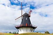 Sonderho Molle windmill for wind energy on Fano Island - Fanoe - South Jutland, Denmark