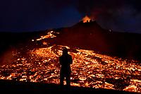 Geldingadalir (Fagradalsfjall) Volcanic Eruption, April 13th 2021.