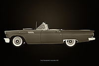 This Ford Thunderbird breathes the American culture that characterizes this time and for or opponents will have in common that there is pure nostalgia of this Ford Thunderbird Convertible from 1957.<br /> <br /> This painting of a 1957 Ford Thunderbird Convertible can be printed very large on different materials. –<br /> <br /> BUY THIS PRINT AT<br /> <br /> FINE ART AMERICA<br /> ENGLISH<br /> https://janke.pixels.com/featured/ford-thunderbird-convertible-black-and-white-jan-keteleer.html<br /> <br /> WADM / OH MY PRINTS<br /> DUTCH / FRENCH / GERMAN<br /> https://www.werkaandemuur.nl/nl/shopwerk/Ford-Thunderbird-Cabriolet/743347/132?mediumId=11&size=75x50<br /> <br /> -