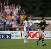 Photo: Alan Crowhurst.<br /> Brighton v Reading. Coca Cola Championship.<br /> 09/08/2005. Glen Little celebrates his goal for Reading.