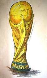 22.02.2014, Bertoni GDE, Mailand, ITA, FIFA WM, FIFA WM POKAL, Gazzaniga, im Bild Originalskizze des WM-Pokals // during a Photoshooting of Silvio Gazzaniga, who is designed the FIFA Worldcup Trophy in the Year 1971 at the Bertoni GDE in Mailand, Italy on 2014/02/22. EXPA Pictures © 2014, PhotoCredit: EXPA/ Eibner-Pressefoto/ Cezaro<br /> <br /> *****ATTENTION - OUT of GER*****