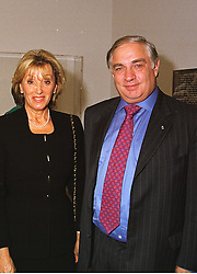 MR & MRS PETER SUTHERLAND he is chairman of Goldman Sachs International,  at an exhibition in London on 15th September 1998.MKB 16 2ORO