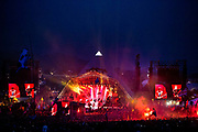 """The Rolling Stones' hit-packed Glastonbury debut has been hailed as """"the high spot of 43 years"""" of the festival by organiser Michael Eavis.<br /> Glastonbury is the world's biggest greenfield festival with nearly 200,000  visiters camping in the dairy farm of Michael Evis in Somerset, UK.<br /> The first festival was in 1970 and was influenced by hippie ethics and the free festival movement. The festival retains vestiges of this tradition such as the Green Fields area which includes the Green Futures and Healing Field."""
