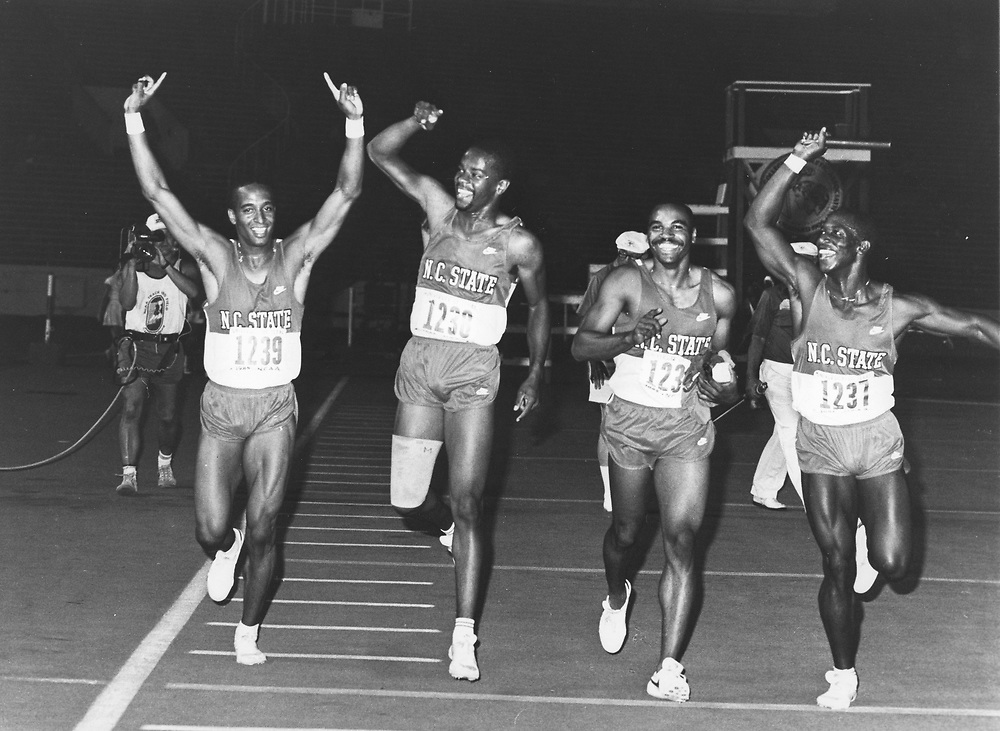 ©1992  NCAA track championships in Austin Texas winning NC State relay team.