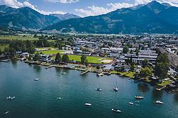 THEMENBILD - das Strandbad Seespitz am Zeller See, aufgenommen am 28. Juli 2020 in Zell am See, Österreich // the Seespitz lido on the Zeller Lake, Zell am See, Austria on 2020/07/28. EXPA Pictures © 2020, PhotoCredit: EXPA/ JFK