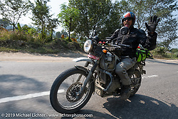 Round the World Doug Wothke riding a Royal Enfield Himalayan on Motorcycle Sherpa's Ride to the Heavens motorcycle adventure in the Himalayas of Nepal. Riding from Chitwan to Daman. Tuesday, November 12, 2019. Photography ©2019 Michael Lichter.