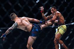 September 23, 2018 - Sao Paulo, Sao Paulo, Brazil - Sao Paulo, Sao Paulo, Brazil - Sep, 2018 - Fighting between fighters ALEX COWBOY (BRA) and CARLO PEDERSOLI (ITA) during UFC Fight Night Sao Paulo, this Saturday (22), at the Ibirapuera gymnasium in São Paulo. (Credit Image: © Marcelo Chello/ZUMA Wire)