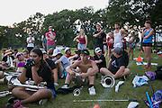 Shadow Drum and Bugle Corps practices in Oregon, Wisconsin on July 7, 2016. <br /> <br /> Beth Skogen Photography - www.bethskogen.com