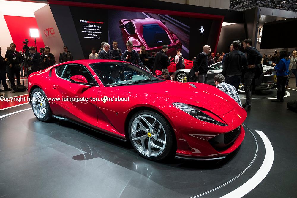 Launch of Ferrari 812 Superfast at 87th Geneva International Motor Show in Geneva Switzerland 2017