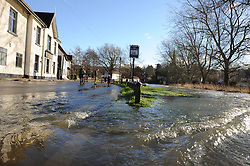 © Licensed to London News Pictures. 19/01/2014.  The town of Eynsford in Kent flooded where the river Darent has broken it's banks after overnight rain caused river levels to rise. Photo credit :Grant Falvey/LNP