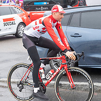Lottos Tim Wellens før starten i Lyngdal av Tour of Norway sykkelritt etappe 2: Lyngdal - Kristiansand.