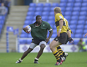 Reading, Berkshire, 29/09/02<br /> London Irish vs Wasps,<br /> Paul SACKEY, during the ZURICH PREMIERSHIP RUGBY match at the Madejski Stadium,  [Mandatory Credit: Peter Spurrier/Intersport Images],