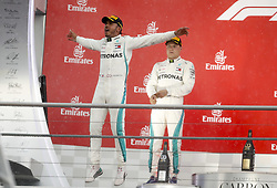 July 22, 2018 - Hockenheim, Germany - Motorsports: FIA Formula One World Championship 2018, Grand Prix of Germany, .#44 Lewis Hamilton (GBR, Mercedes AMG Petronas Motorsport), #77 Valtteri Bottas (FIN, Mercedes AMG Petronas Motorsport) (Credit Image: © Hoch Zwei via ZUMA Wire)