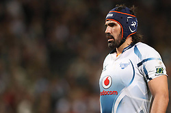 CAPE TOWN, SOUTH AFRICA - 11 JUNE 2011, Bulls captain Victor Matfield during the Super Rugby match between DHL Stormers and the Bulls held at DHL Newlands Stadium in Cape Town, South Africa..Photo by Shaun Roy / Sportzpics.net