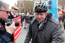 © Licensed to London News Pictures. 27/03/2019. London, UK. Boris Johnson, who has suggested he may be able to support Prime Minister Theresa May's Brexit Deal, arrives at Parliament. MPs will hold a series of indicative votes on different Brexit options this evening. Photo credit: Rob Pinney/LNP