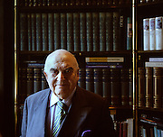 Portrait of Arthur George Weidenfeld, Baron Weidenfeld, (b919-2016)), British publisher, philanthropist and newspaper columnist.