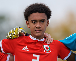 WREXHAM, WALES - Wednesday, October 30, 2019: Wales' Zachary Bell lines-up before the 2019 Victory Shield match between Wales and Republic of Ireland at Colliers Park. (Pic by David Rawcliffe/Propaganda)