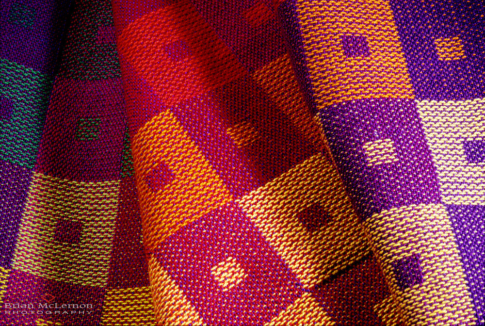 Hand-made weaving by Barbara Bock