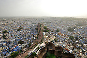 Jodhpur, Rajasthan, India view of the city as seen from Mehrangarh Fort.