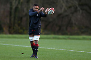 Taulupe Faletau , the Wales rugby player in action during the Wales rugby team training session at the Vale Resort Hotel in Hensol, near Cardiff , South Wales on Thursday 23rd November 2017.  the team are preparing for their Autumn International series test match against New Zealand this weekend.   pic by Andrew Orchard
