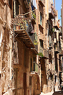 poor dilapidated houses of Palermo old town, Sicily .<br /> <br /> Visit our SICILY HISTORIC PLACES PHOTO COLLECTIONS for more   photos  to download or buy as prints https://funkystock.photoshelter.com/gallery-collection/2b-Pictures-Images-of-Sicily-Photos-of-Sicilian-Historic-Landmark-Sites/C0000qAkj8TXCzro