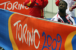Dwain Chambers of Great Britain scored best time at the qualification of 60m men at the 2nd day of  European Athletics Indoor Championships Torino 2009 (6th - 8th March), at Oval Lingotto Stadium,  Torino, Italy, on March 6, 2009. (Photo by Vid Ponikvar / Sportida)