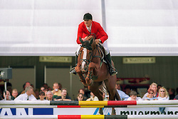 Kirchhoff Ulrich - Ohio van de Padenborre<br /> World Championship Young Horses Lanaken 1999<br /> © Dirk Caremans