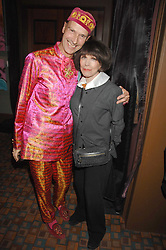 ANDREW LOGAN and FENELLA FIELDING at a party for Countess Carolinda Tolstoy-Miloslavsky held at The Arts Club, 40 Dover Street, London on 15th April 2008.<br /><br />NON EXCLUSIVE - WORLD RIGHTS