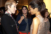 JUSTINE PICARDIE; SOLANGE AZAGURY;  THANDIE NEWTON Vogue: Fashion's Night Out: Armani. Bond st.  London. 8 September 2010.  -DO NOT ARCHIVE-© Copyright Photograph by Dafydd Jones. 248 Clapham Rd. London SW9 0PZ. Tel 0207 820 0771. www.dafjones.com.