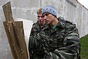 """Moscow Region, Russia, 26/10/2007..Maxim Korobov, a Commissar of the pro-Kremlin youth group Nashi [Ours] undergoes military training at a Russian Army Paratroop Regiment camp as part of the group's project """"Our Army"""".."""