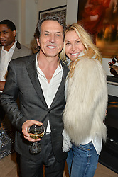 STEPHEN WEBSTER and MELISSA ODABASH at a private view of Stephen Webster's new White Kite colelction held at his store at 130 Mount Street, London on 24th November 2016.