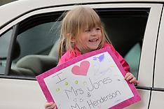 "04/22/20 Johnson Elementary """"Miss You Carcade"""