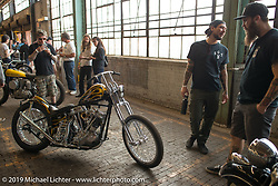 Custom 1948 Panhead built by Jason Phares for Dustin Cramer at the Congregation Show. Charlotte, NC. USA. Saturday April 14, 2018. Photography ©2018 Michael Lichter.