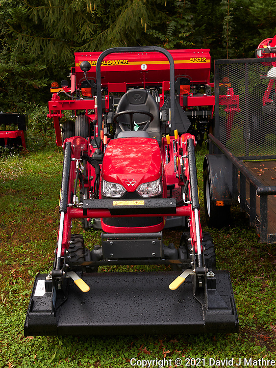 Massey Ferguson Compact Garden Tractor. Image taken with a Leica CL camera and 23 mm f/2 lens.