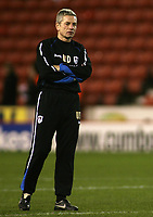 Photo: Paul Thomas.<br /> Stoke City v Millwall. The FA Cup. 05/01/2007.<br /> <br /> Willie Donachie, Millwall manager.
