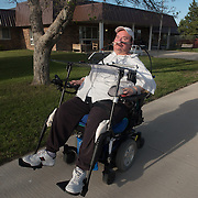 Date: 5/5/16<br /> Desk: BIZ<br /> Slug: NURSING HOMES <br /> Assign Id: 30190018A<br /> <br /> Quadriplegic Shane Bear Heels, 48, who is Rosebud Sioux (Sicangu Oyate Lakota), has lived at the White River Health Care Center nursing home (seen in background) in White River, South Dakota since 2002, a year after he was paralyzed in a car accident. <br /> <br /> <br /> Photo by Angela Jimenez for The New York Times <br /> photographer contact 917-586-0916