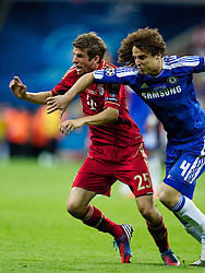 19.05.2012, Allianz Arena, Muenchen, GER, UEFA CL, Finale, FC Bayern Muenchen (GER) vs FC Chelsea (ENG), im Bild Bayern Munchen's Thomas Muller and Chelsea's David Luiz during the Final Match of the UEFA Championsleague between FC Bayern Munich (GER) vs Chelsea FC (ENG) at the Allianz Arena, Munich, Germany on 2012/05/19. EXPA Pictures © 2012, PhotoCredit: EXPA/ Propagandaphoto/ Vegard Grott..***** ATTENTION - OUT OF ENG, GBR, UK *****