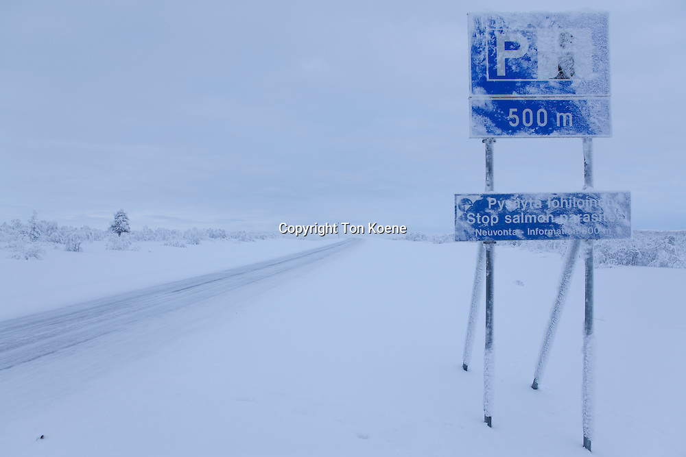 road in Northern Finland