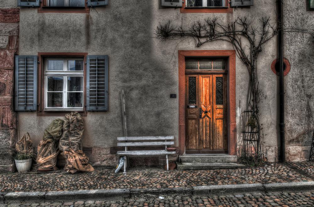 Rheinfelden house facade and bench
