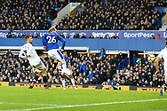 Tom Davies of Everton (26) scores his teams 3rd goal. Premier league match, Everton v Crystal Palace at Goodison Park in Liverpool, Merseyside on Saturday 10th February 2018. pic by Chris Stading, Andrew Orchard sports photography.
