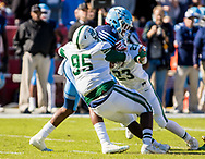Dutch Fork Silver Foxes defensive tackle Trey Irby (95) stops Dorman Cavaliers running back Chance Black (5) for a loss in the Class AAAAA State Championship Game at Williams-Brice Stadium in Columbia, SC. Dutch Fork wins their 4th straight state championship at Williams Brice Stadium. Photos ©JeffBlakePhoto.com